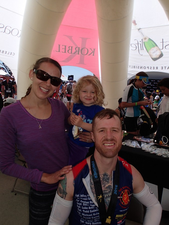 post-race picture with my wife and daughter