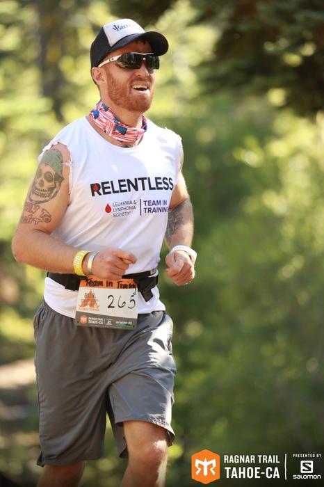 Me running the Yellow Loop of Ragnar Trail Tahoe.
