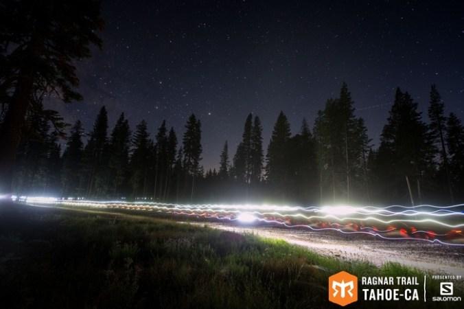 Night shot of Green Loop at Ragnar Trail Tahoe.