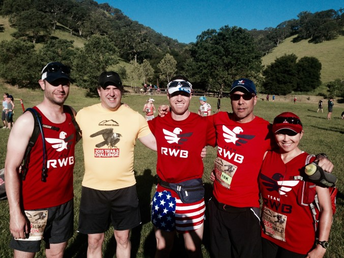 Team RWB friends posing before the Mt. Diablo Trails Challenge