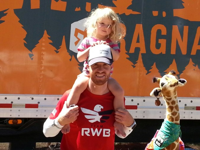 Holding my daughter between runs at Ragnar Trail Tahoe.
