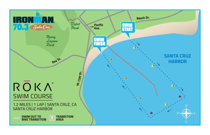 Ironman 70.3 Santa Cruz Swim Course