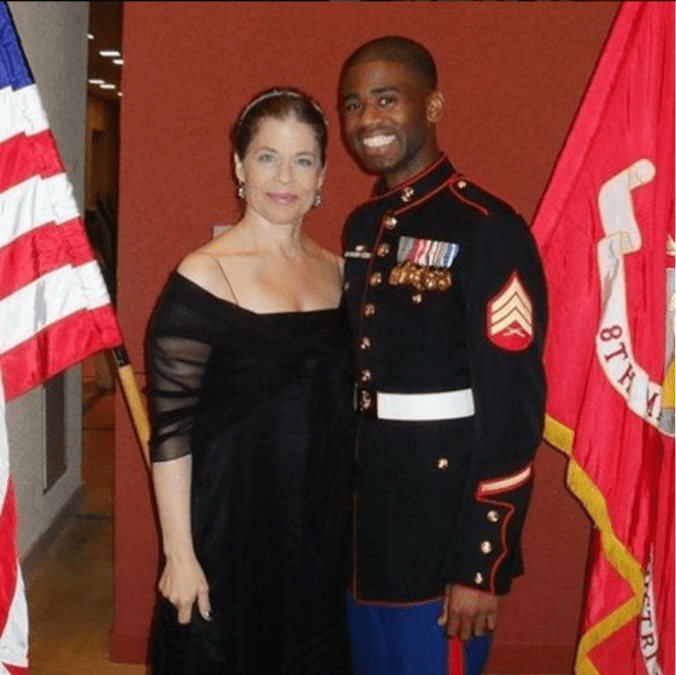 TMR with Linda Hamilton at the Marine Corps Ball