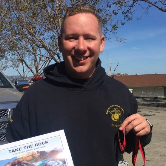 Rich Dreyling poses after finishing Take the Rock Alcatraz Swim - 5 lessons I learned in 2017