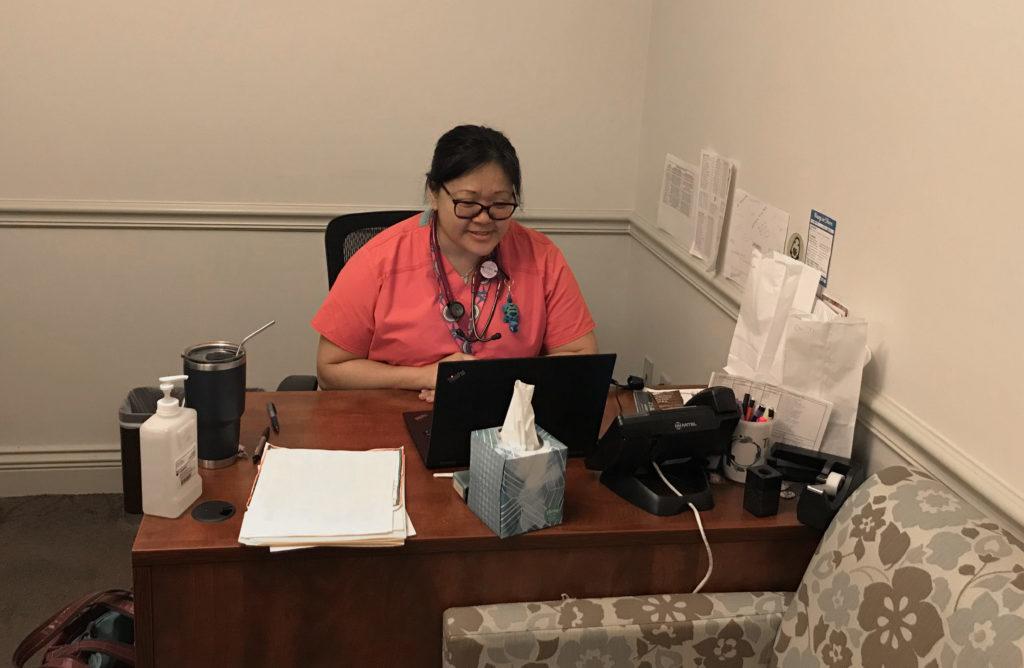 Doctor providing telehealth