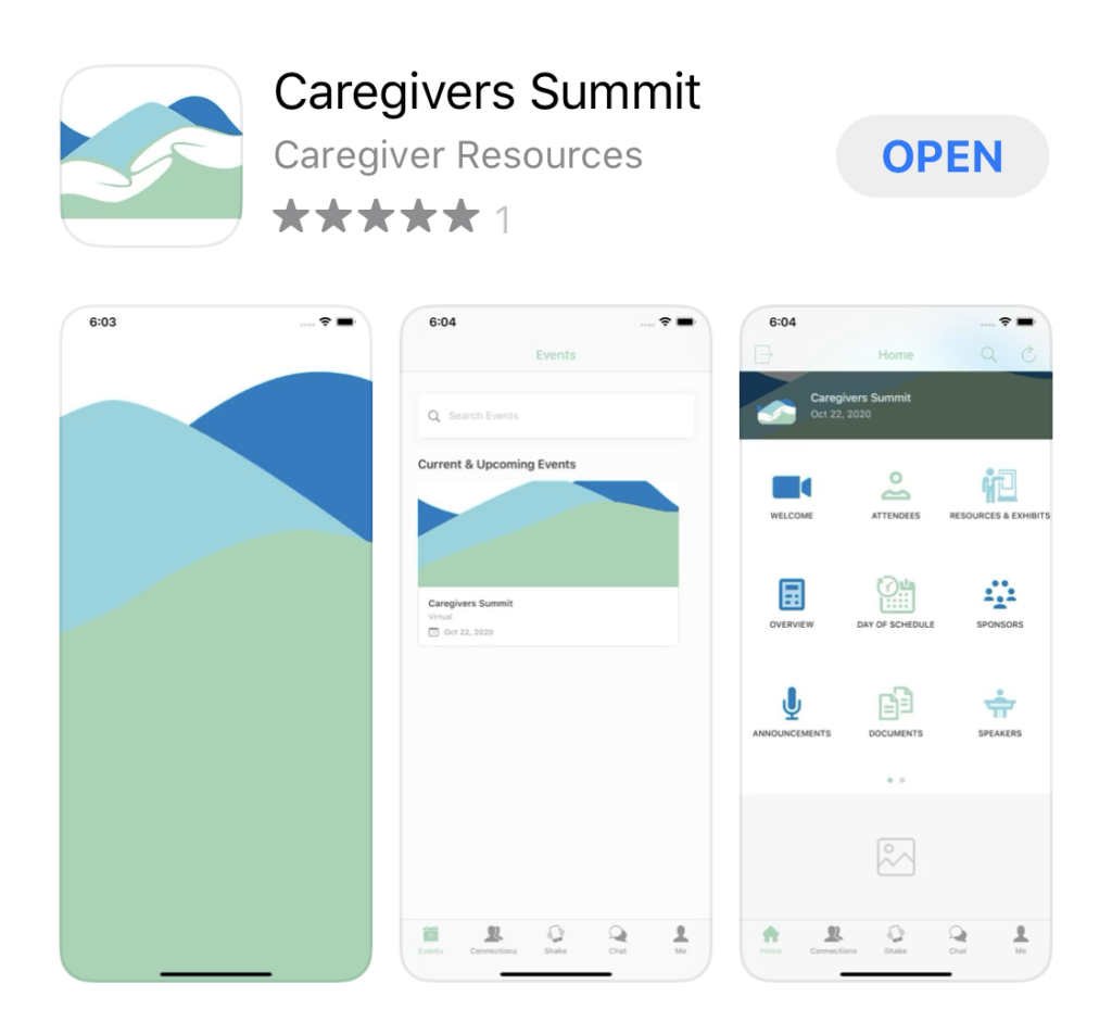 Caregivers Summit App