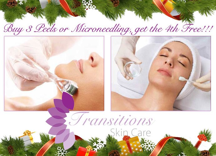 Holiday Special: Buy three peels or microneedling and get the fourth free in a series!