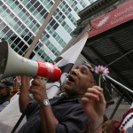 #occupywallstreet man with bullhorn