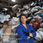 Nohra Padilla at a recycling facility