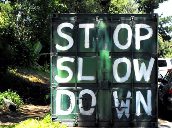 stop slow down sign