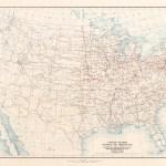 1926 U S Highway System Map Transit Maps Store