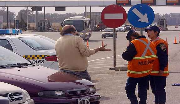 control policia caminera gendarmeria ruta
