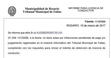 Consulta de multas de transito por vehiculo de la Municipalidad de Rosario - 13
