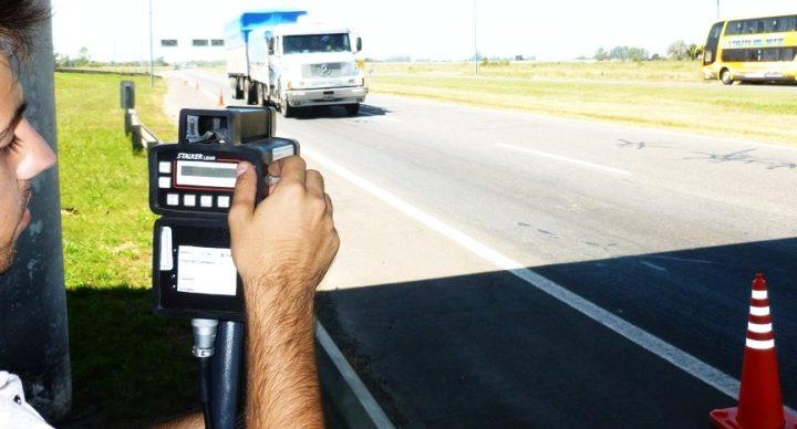 Control de velocidad por radar cinemometro APSV Santa Fe