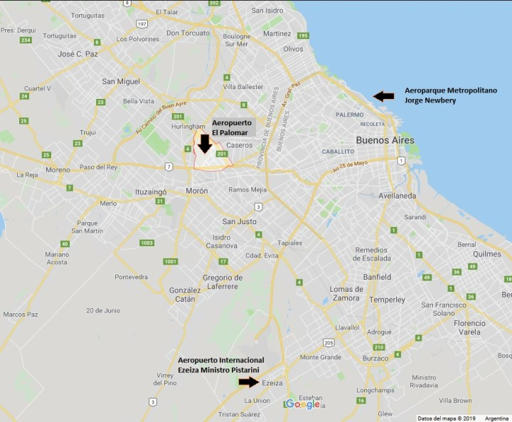 aeropuertos de buenos aires ubicacion mapa