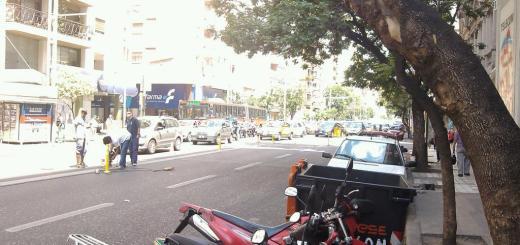Bastones amarillos en Av Colón (Foto: @waltergmurua)