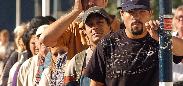 Parada de colectivos (Foto: Infobae)