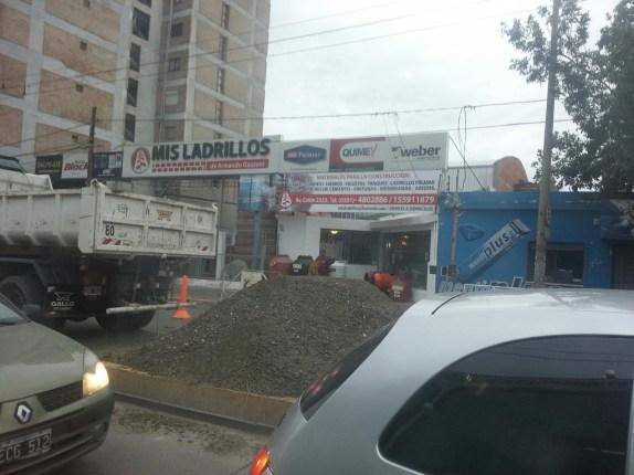 Obras en Av Colón al 2300 (Foto: @arroyogallardo)