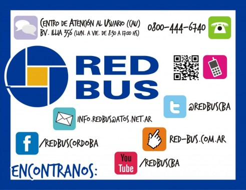 Vías de comunicación de Red Bus Córdoba.