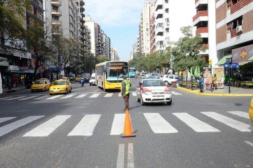 Carril selectivo en Chacabuco, Córdoba