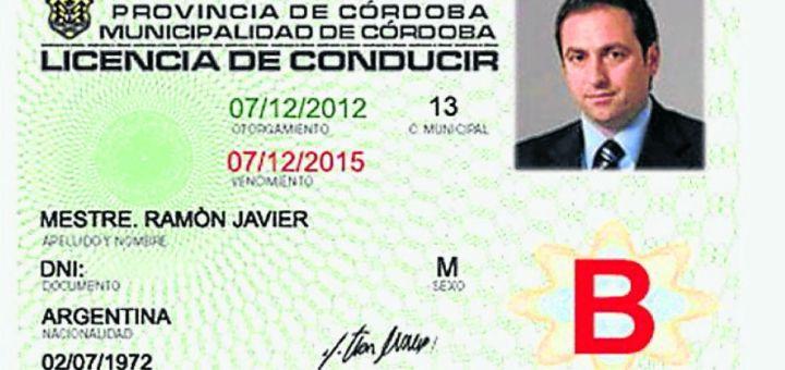 Nueva licencia de conducir de Cordoba - Mestre