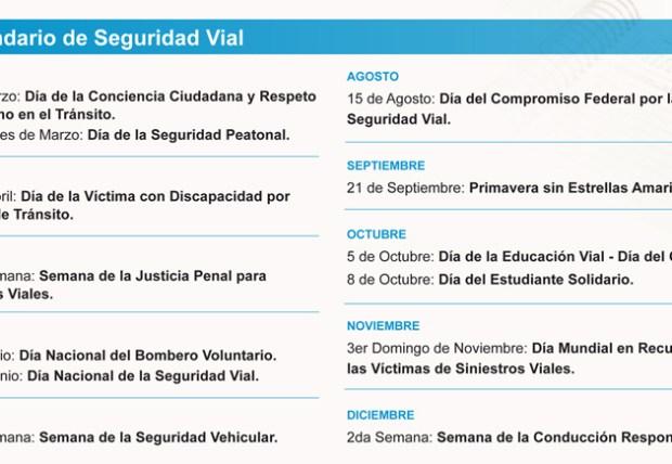 Calendario Seguridad Vial 2014