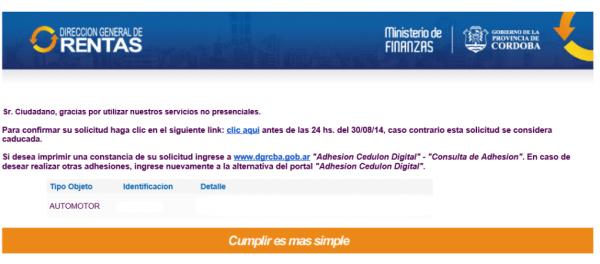 mail adhesion cedulon digital rentas