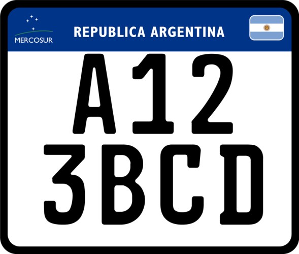 Patente unica del Mercosur para moto