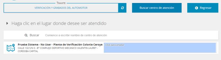 Turnero online planta verificacion policial automotor Colonia Caroya