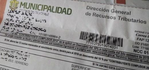 Impuesto Municipalidad Cordoba