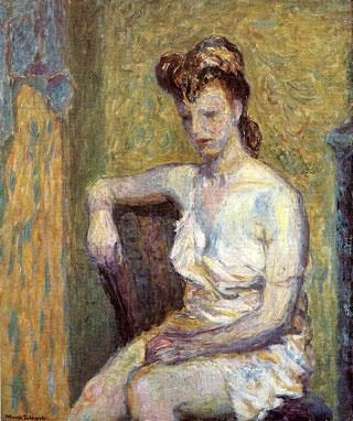 'Sitting Nude' by Marek Zulawski, 1938