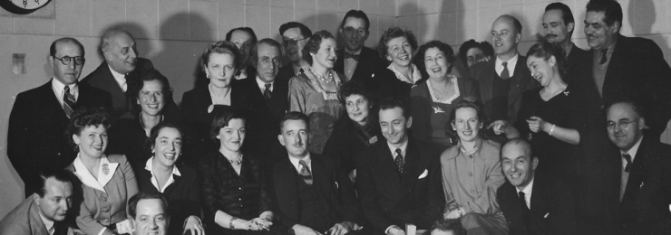 The Polish section of BBC Radio, photographed sometime during the 1940s or 1950s