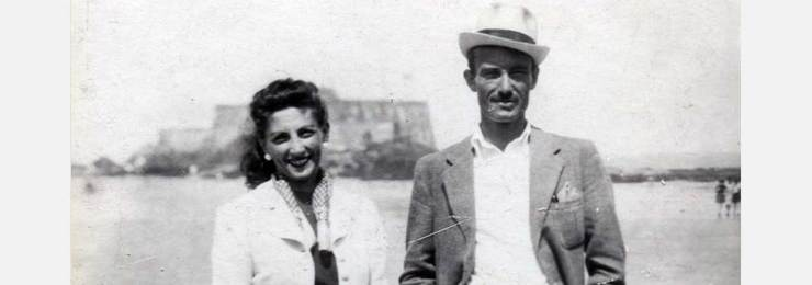 Halina Korn and Marek Zulawski in St Malo, France, 1940