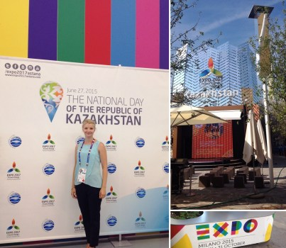 Snejana Skakovskaya Translator at EXpo 2015 in Milan
