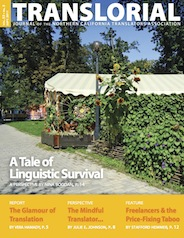 Cover of the September 2011 issue of Translorial.