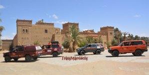 Refugio construcción adobe 4x4 todoterrenos marruecos