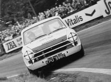 Jim Clark at the wheel of a Lotus Cortina