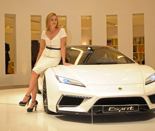 Sharon Stone is reunited with the Lotus Esprit