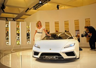 The New Era Lotus Esprit together with Sharon Stone