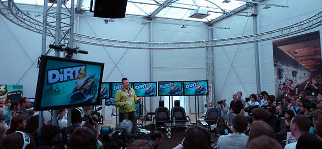 The Codemasters development team presenting DiRT 3