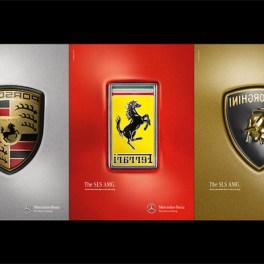 Mercedes SLS AMG leaves Lamborghini, Ferrari and Porsche in its dust..