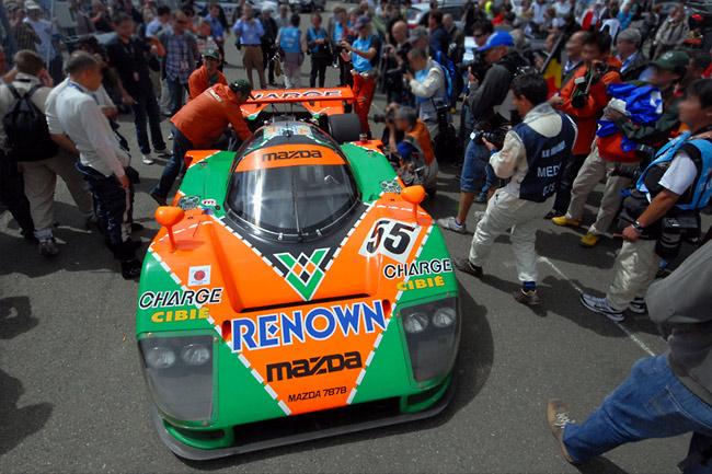 Le Mans winning Mazda 787B