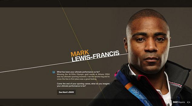 British sprinter Mark Lewis-Francis