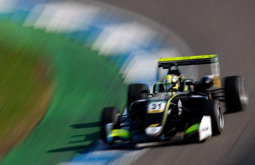 Lando Norris winning Euro F3 title