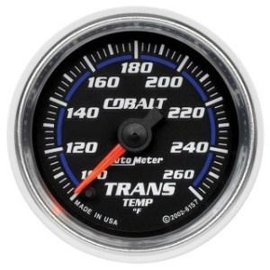 Autometer Cobalt 6157 transmission temperature gauge - Best transmission temp gauges - Transmission Cooler Guide