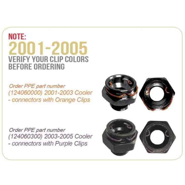 PPE Duramax Transmission Cooler Clips - Transmission Cooler Guide