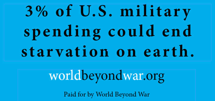 3% of U.S. military spending could end starvation on earth