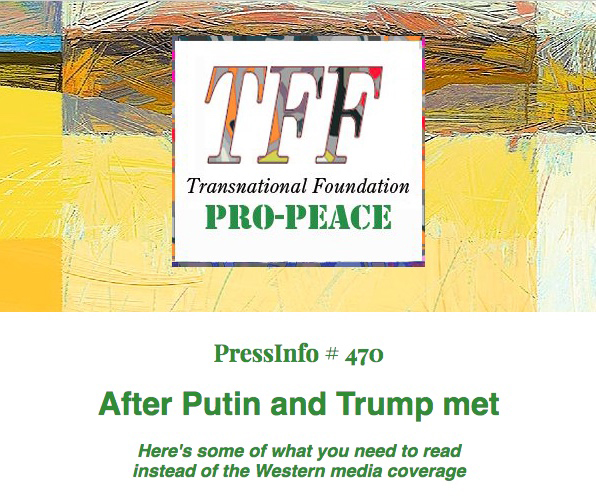Necessary readings after the Putin-Trump meeting and tabloid-like media coverage
