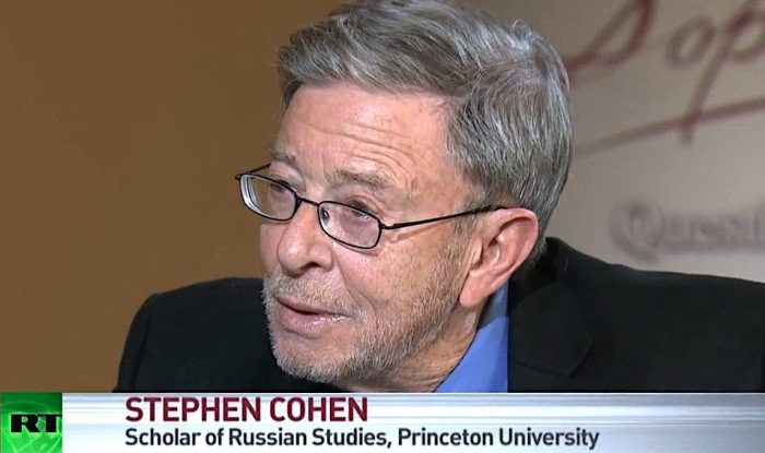 At the death of Stephen F. Cohen: Keep reading and listening to this wise man