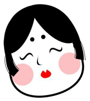 お多福さんは日本女性の美の規範